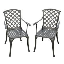 Black Metal Patio Chairs Black Steel Patio Chairs Sg2015