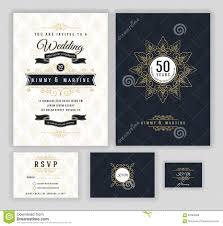 wedding anniversary celebration invitation design stock vector