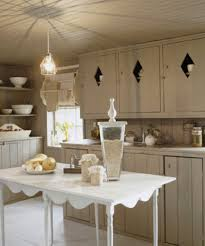 Rustic Farmhouse Kitchens - vintage inspired pendant completes rustic farmhouse kitchen blog
