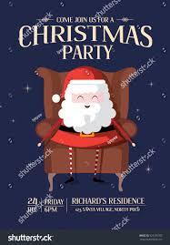 santa claus christmas party invitation card stock vector 523235707