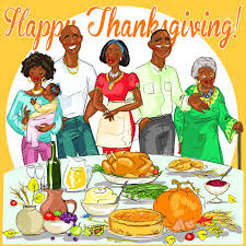 happy family celebrating thanksgiving day card design royalty free