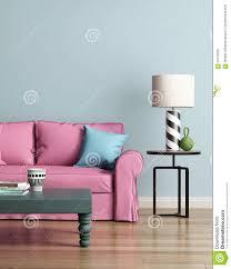 Pink Sofa Com Modern Pink Sofa In A Light Blue Luxury Interior Stock