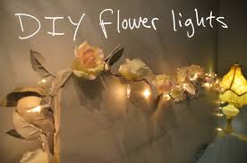 String Of Flower Lights by Mr Kate Diy Flower Twinkle Lights