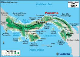 map of panama city panama map geography of panama map of panama worldatlas com
