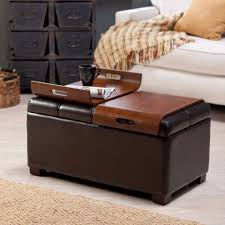 Diy Ottoman From Coffee Table by Ottomans Ottoman Coffee Table Tray Wooden Tray Round Pottery