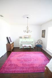 Pink And White Rug Spring Refresh In The Piano Room Run To Radiance