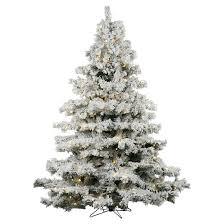 6 5ft pre lit artificial christmas tree full flocked alaskan