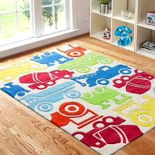 kids area rug with colorful cars for boys playroom kids area
