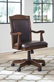 Ikea Rolling Chair by Bedroom Classy Vintage Dark Brown Finish Wooden Desk Chair Swivel