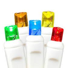multi colored led net lights 4 u0027 x 6 u0027 on white wire novelty