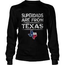 Black And White Texas Flag Superdads Are From Texas Father U0027s Day T Shirt Flag