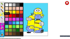 how to paint a drawing of the minions colouring book online for