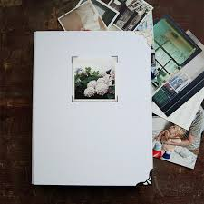 large photo album scrapbook wedding guest book white no