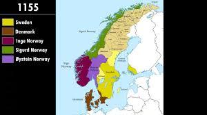 Scandinavia Map History Of Scandinavia Every Year Youtube