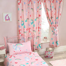 girl bedroom curtains girls bedroom curtains 66 x 72 unicorns ponies flamingos