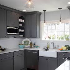 this gorgeous light french gray sw 0055 kitchen has us waving our