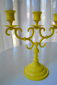 Do It Spray Paint - upgrading an old brass candlestick with spray paint young house love