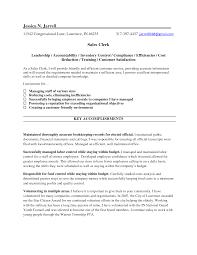 sample resume sales clerk position bongdaao com