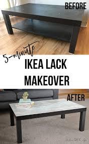 ikea hacks coffee table ikea lack coffee table makeover the easiest kind anika s diy life
