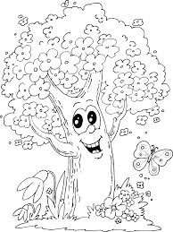Coloring Book Trees Many Interesting Cliparts Tree Coloring Pages