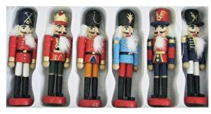 kurt adler wooden nutcracker ornament set home kitchen