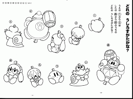 excellent mother and baby kangaroo coloring page with kirby