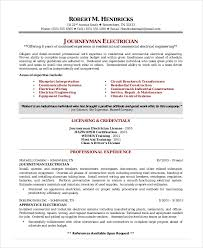 easy resume exle electrician resume template 5 free word excel pdf documents