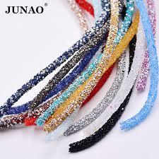 rhinestone chain bracelet images Junao 1 meter crystal rhinestone chain trim crystal beads applique jpg
