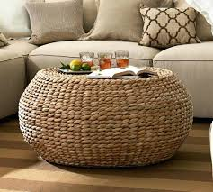 wicker storage ottoman coffee table tag wicker storage ottoman