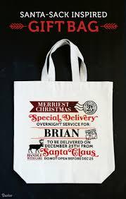 diy santa sack inspired canvas gift bags darice