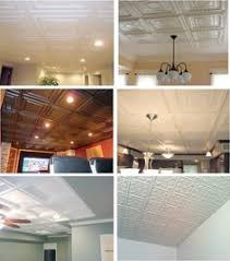 Drop Ceiling Styles by Grid Covers For The Dropped Ceiling In Our Basement Living