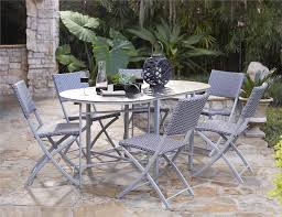 Folding Patio Dining Set Cosco Outdoor Products Cosco Outdoor Living Transitional 7 Piece