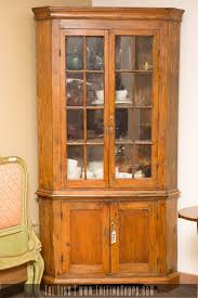 vintage corner china cabinet antique corner china cabinet office table