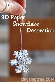 snowflake decorations 3d paper snowflake