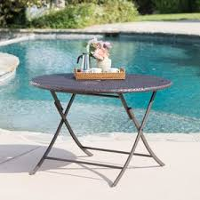 square wicker outdoor table wayfair