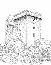 Irish Castle Coloring Page | great castles games castle coloring book