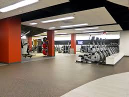 great interior fitness center design ideas has grey floor and some