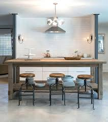 kitchen island salvaged wood center island with industrial bar