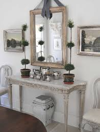 White Foyer Table Loi Thai Dining Rooms Topiary Marble Top Console