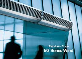 Overhead Door Curtains Aluminum Silver Overhead Door Commercial Air Curtains With Low Noise