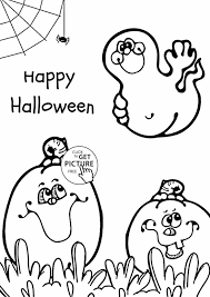 Happy Halloween Printable by Witch And Ghost Coloring Pages For Kids Spectacular With Stories