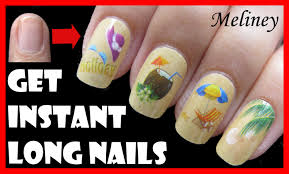 how to get instant long nails for short nails easy beach nail