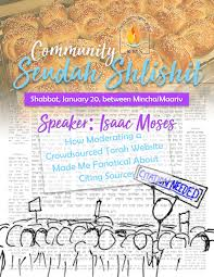 shabbat schedule shabbat speakers and shiurim kiddush sponsorship