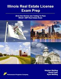 buy illinois real estate license exam prep all in one review and