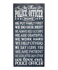 firefighter home decorations saras signs police officer home wall sign zulily home decor