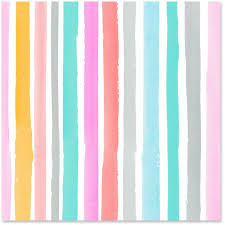 watercolor stripes wrapping paper roll 27 sq ft wrapping