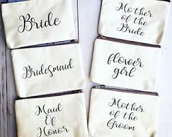 bridal party makeup bags custom makeup bag etsy