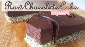 how to make raw vegan chocolate cake easy recipe youtube