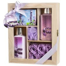 lavender gift basket lavender spa bath gift set in wood curio free shipping
