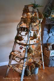 theme christmas tree a treeless ladder christmas tree hometalk